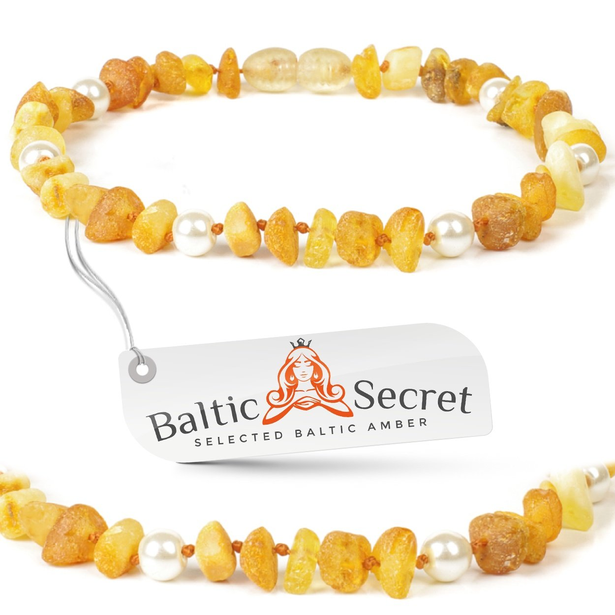 Bernstein Halsband für Hunde und Katzen - Länge von 20cm bis 70 cm - Top Qualität auf Amazon - Bernsteinkette-Zeckenhalsband-Zeckenschutz - 100% aus baltischem NATUR Bernstein AmberForPets
