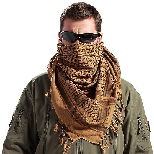 Amazon.com  Generic Tactical Desert Shemagh Arab Keffiyeh Neck Scarf ... 35b26fbf799
