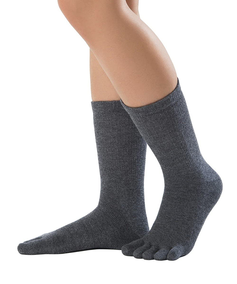 met/á polpaccio calzini con dita in lana merino e cotone Knitido Essentials Cotton /& Merino Melange