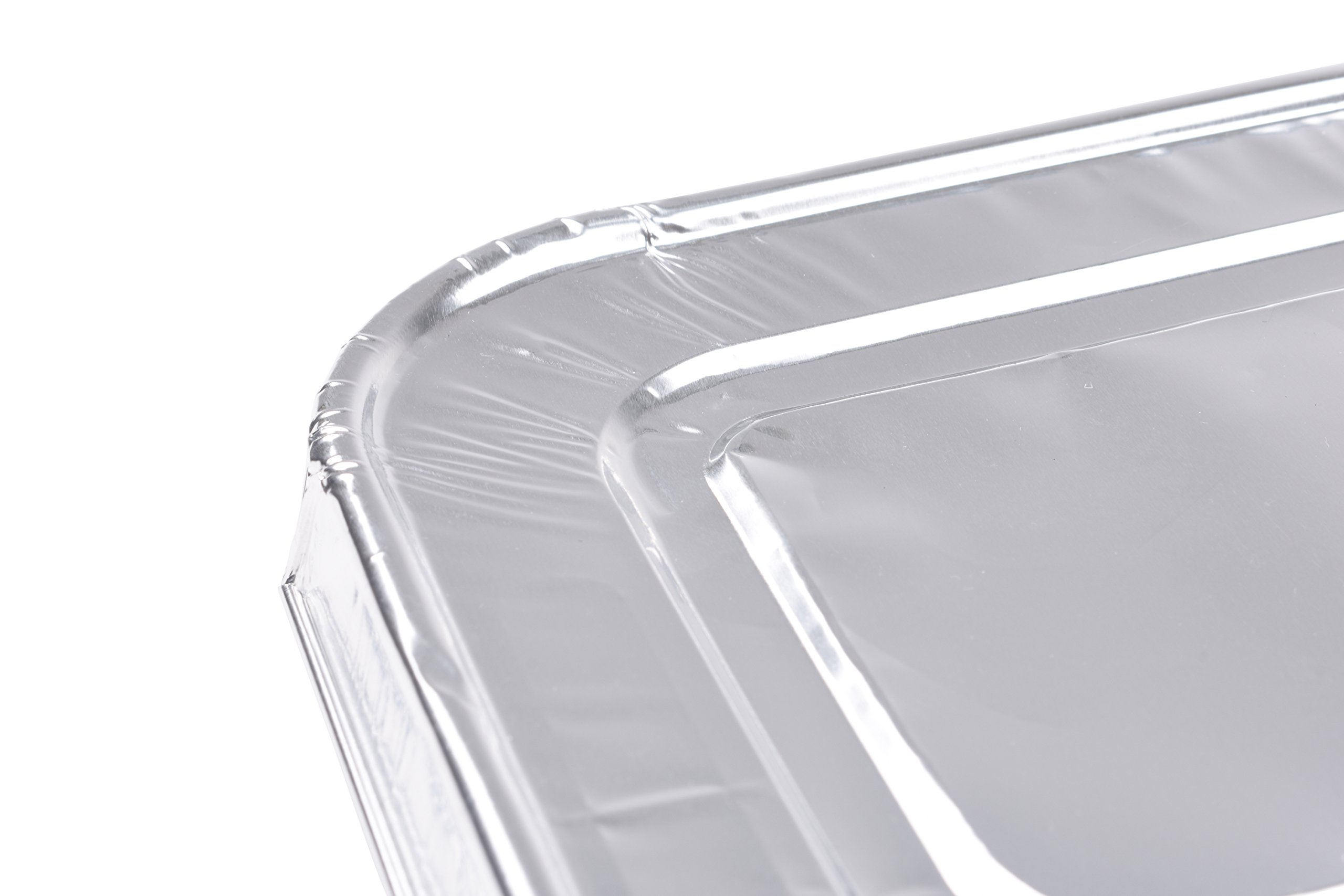 A World of Deals 9 X 13 Half Size Deep Foil Steam Pans with Lids, 30 Pack by A World Of Deals (Image #5)
