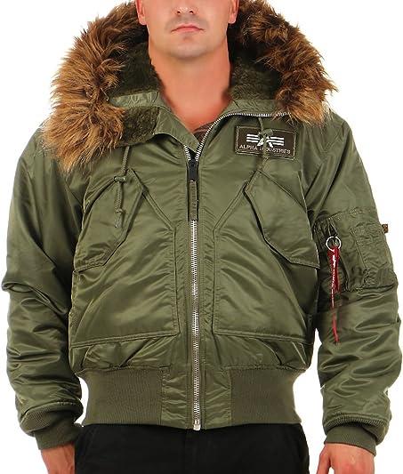 Alpha Industries CWU Hooded Flight Jacket: Amazon.co.uk: Clothing