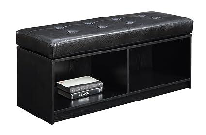 Incroyable Convenience Concepts Designs4Comfort Contemporary Broadmoor Storage  Ottoman, Black