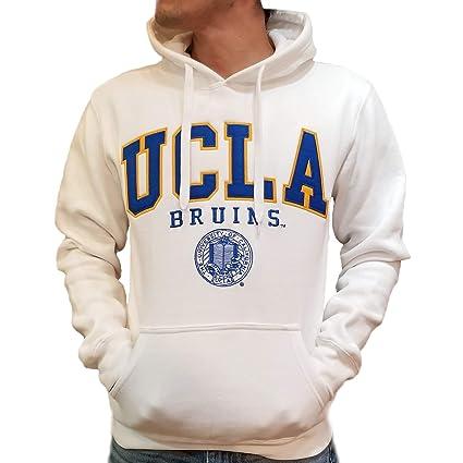 2e7543d6 E5 UCLA Fleece Hoodie Sweatshirt White with Royal Blue Seal (x-Small)