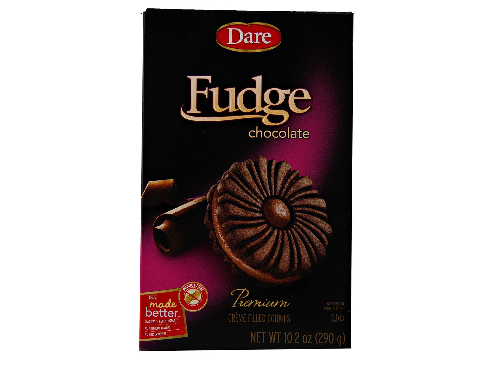 Dare Foods Fudge Chocolate Creme Cookies 3 /10.2 oz Boxes by YANKEETRADERS