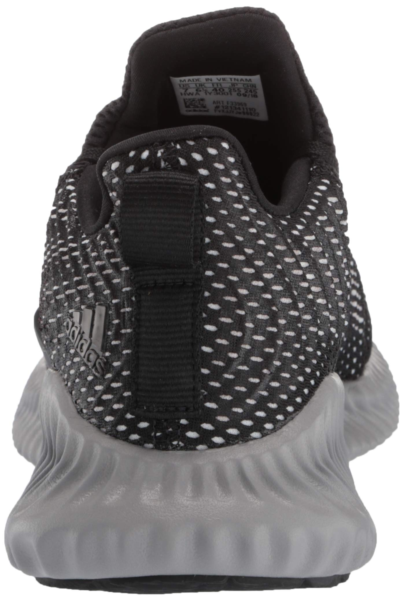 Adidas Kids Alphabounce Instinct, Black/White/Grey, 1 M US Little Kid by adidas (Image #2)
