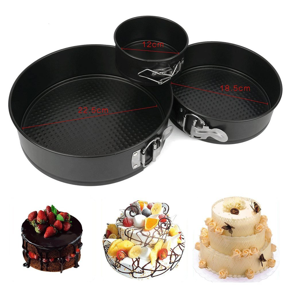 Springform Pan,Lifelj Non-stick Cheesecake Pan,Leakproof Cake Pan Set Includes 4 7 9 Springform Pan for Instant Pot with Removable Bottom and Quick-Release Latch, Fits 5,6,8 qt Instant Pot black