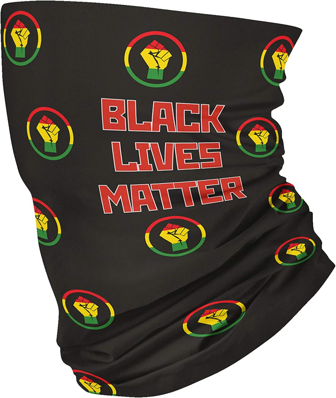 Black Lives Matter Unisex Fleece Neck Warmer Gaiter Microfiber Face Mask,Neck Gaiter,Magic Scarf for Dust Outdoors