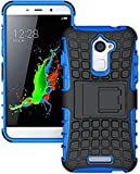 Dashmesh Shopping Hybrid case for Coolpad Note 3 Lite, Rugged Dual Layer TPU + PC Kickstand Hybrid Case Back Cover for Coolpad Note 3 Lite Blue