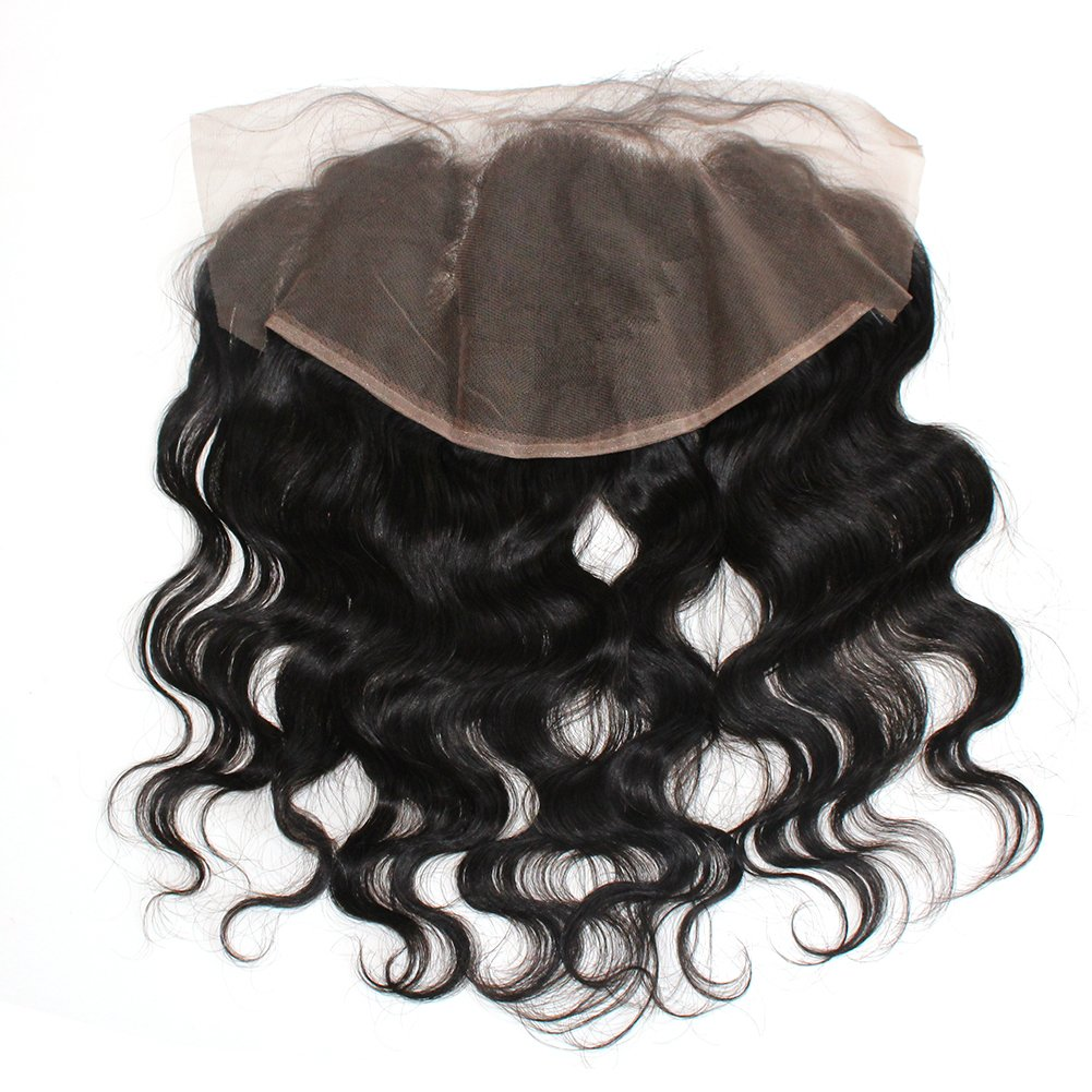 ZigZag Hair 13x6 Lace Frontal Closure Brazilian Virgin Human Hair Pre Plucked Natural Hairline Ear to Ear Full Lace Closure with Baby Hair Natural Color (20'', Body Wave) by ZigZag Hair (Image #4)