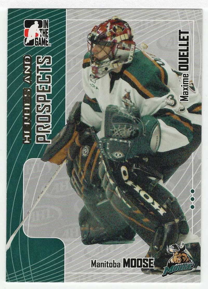 Hockey Card Maxime Ouellet 2005-06 ITG Heroes and Prospects # 217 NM//M