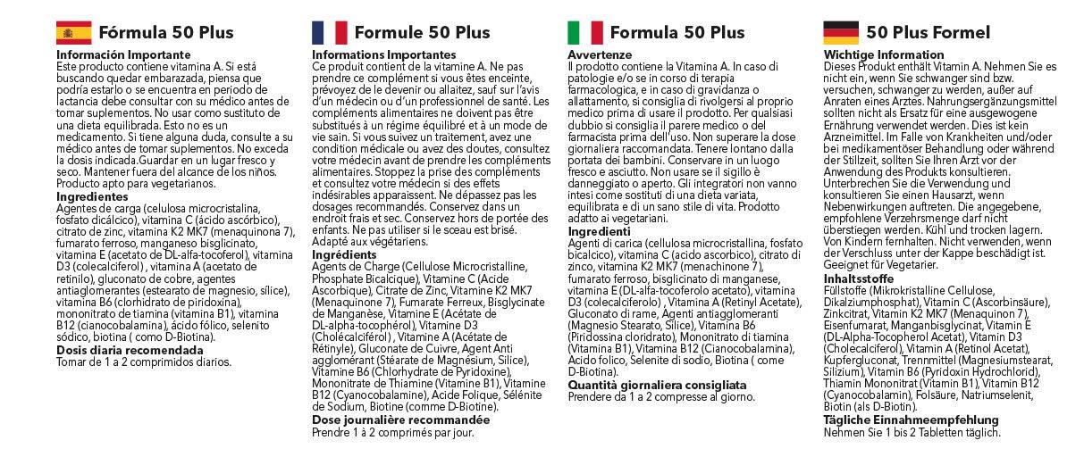 Fórmula 50 Plus - 360 comprimidos - 1 año de suministro - Multivitamínico específico para mayores de 50 - SimplySupplements: Amazon.es: Salud y cuidado ...