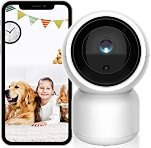Pet Camera Monitor,ISEEUSEE Security Camera WiFi Home Dog Camera 1080P HD,Indoor Outdoor Camera for Dog and Cat,Support APP Remote Control/Motion Detection/2 Way Audio/Night Vision