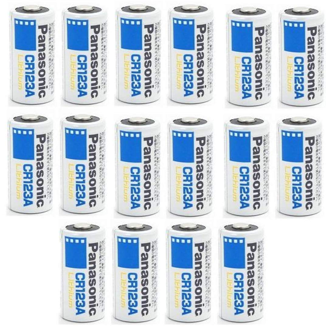 Panasonic CR123A 123A Lithium Battery 3V, 1400 Mah (16 Pack) by PanasonicCR123A