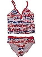 OP Girls 2 Piece Patriotic Stars Bikini Swimming Suit Tankini Swimsuit
