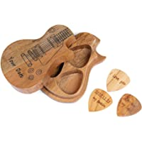 SalmophC Púas de Guitarra de Madera Personalizadas y Estuche para púas Regalo de música con púas de Guitarra…