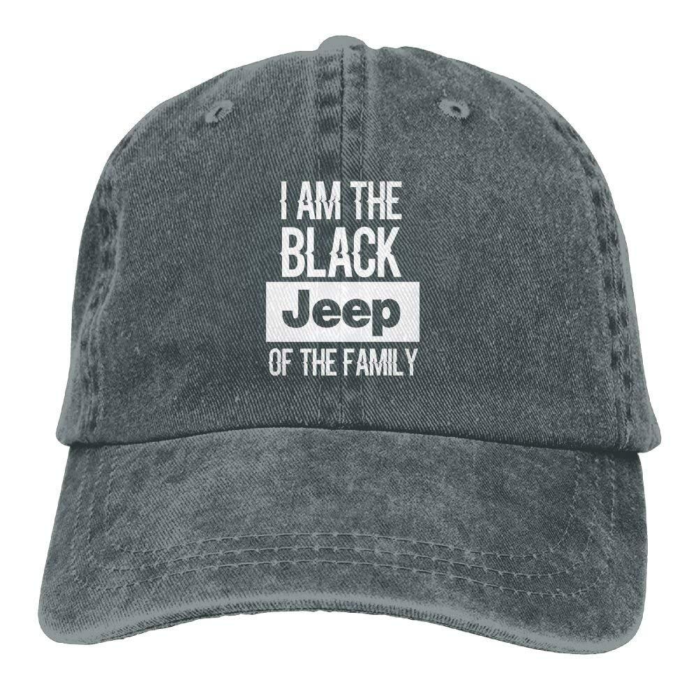 linranshangmao Lustig Bin ich der Schwarze Jeep des justierbaren Familien Cowboyhuts
