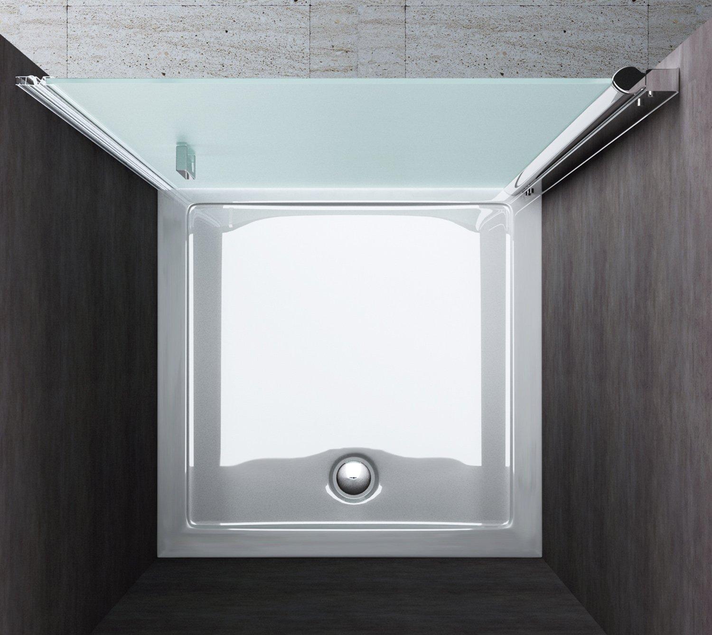 Porte de douche pivotante paroi de douche verre de securite vitrification nano Teramo22S 70x190