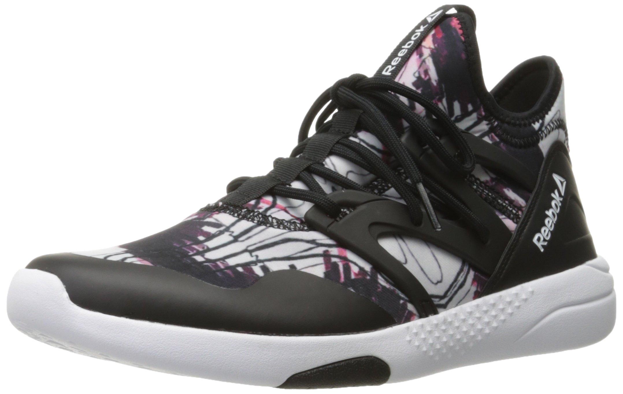 Reebok Women's Hayasu Dance Shoes, Graphic Black/White, 8 M US