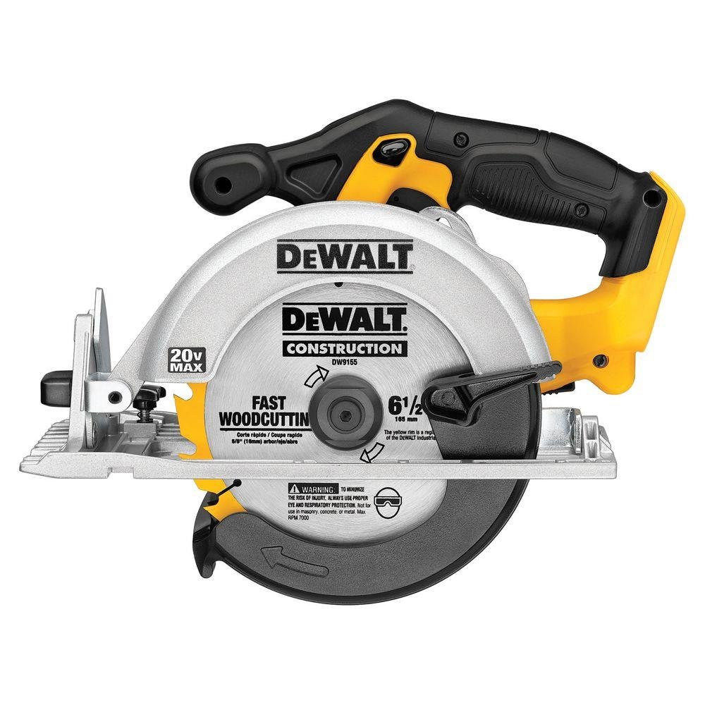 DEWALT DCS391B 20-Volt Max Lithium-Ion 6-1/2 in. Cordless Circular Saw