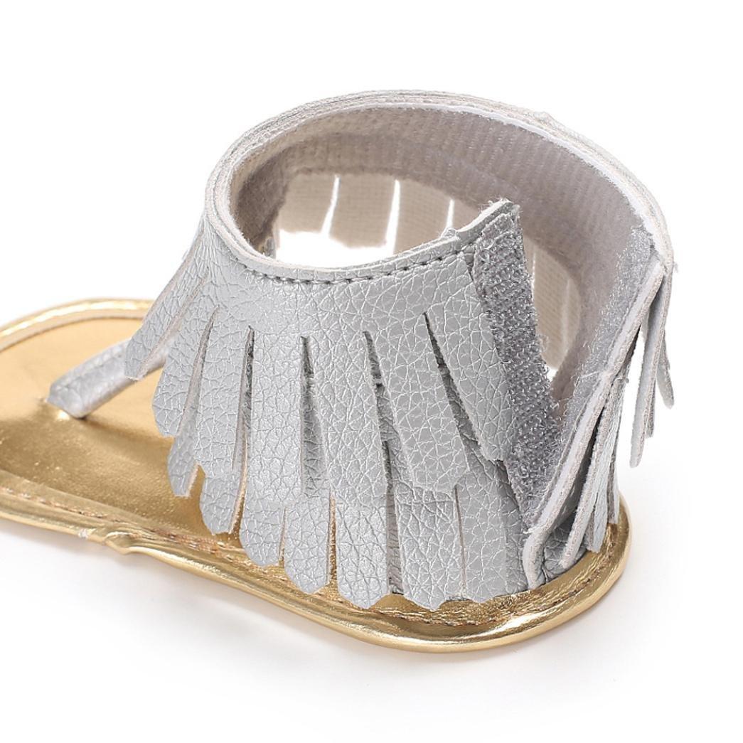 Zapatos Calzado De Bebe Para Niña Casuales Sandalias Borlas Bebes Recién Nacidos