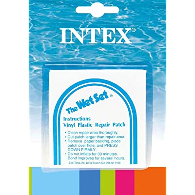INTEX Wet Set Adhesive Vinyl Plastic Swimming Pool Tube Repair Patch, 12 Pack : Garden & Outdoor
