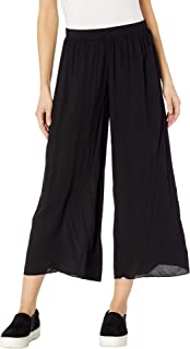 product image for Hard Tail Pull-On Wide Racer Stripe Crop Pants Black XS