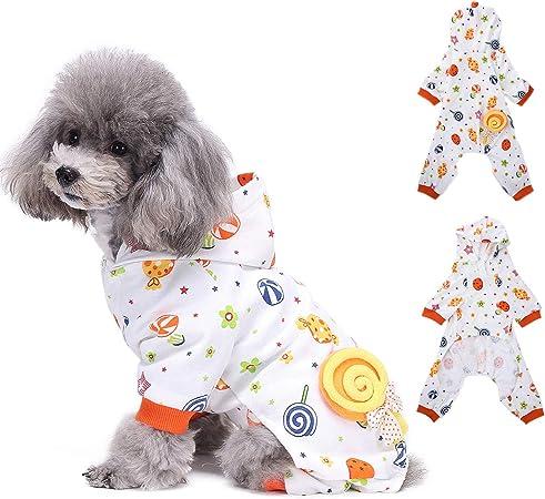 4 Beine Set mit Anzug f/ür Haustiere Karneval Kost/üm kleine und mittlere Gr/ö/ße Baumwolle Ducomi Piji Pyjama f/ür Hunde und Hunde Pyjama Katze Halloween Katzen
