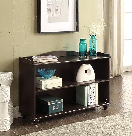 3 Tier Wood Bookcase Bookshelf Espresso Finish