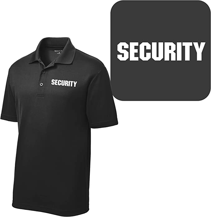 STAFF Polo Shirts Event Bouncer Security Party Guard Polos S-3XL