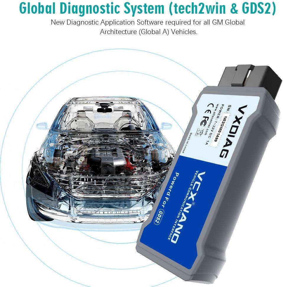 VXDIAG VCX Nano GDS2 e Tech2Win sistema di programmazione diagnostica compatibile per GM//Opel
