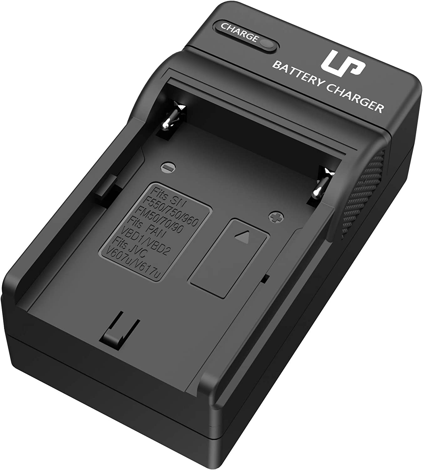 NP-F550 Battery Charger, LP Charger Compatible with Sony NP F970, F960, F770, F750, F570, F530, F330, CCD-SC55,TR516,TR716, TR818, TR910, TR917, CN160, CN-216 LED Light, Feelworld Field Monitor & More