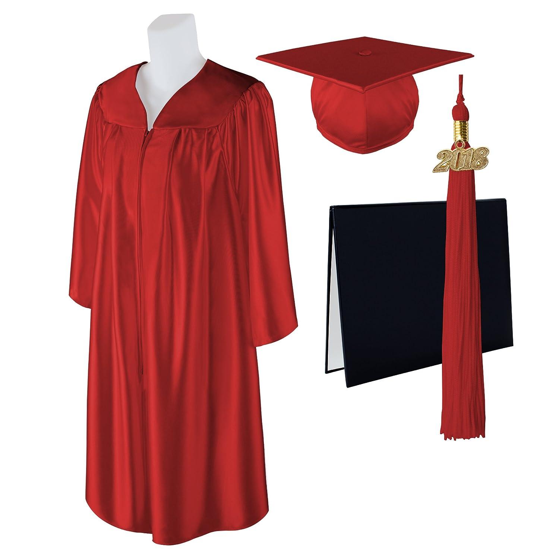 Amazon.com: Class Act Graduation Standard Shiny Graduation Cap, Gown ...