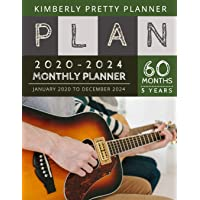 5 year monthly planner 2020-2024: Monthly Schedule Organizer - Agenda Planner For The Next Five Years, 60 Months…