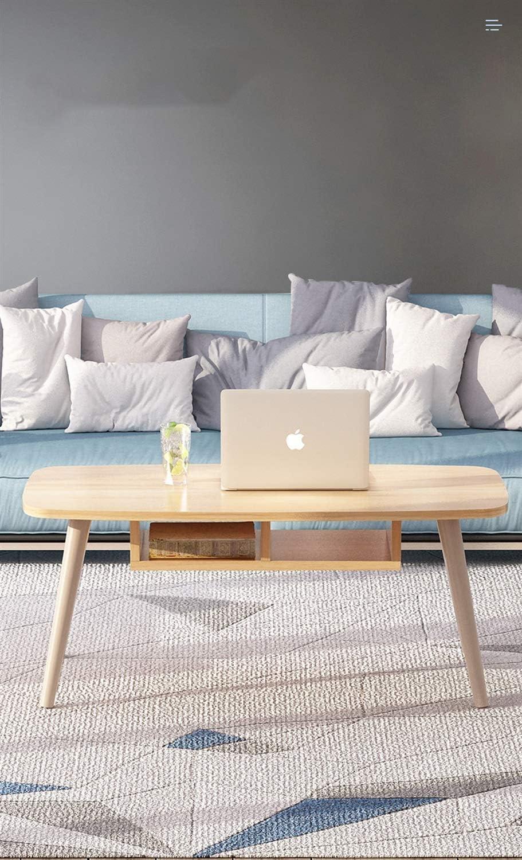 無垢材のシンプルなコーヒーテーブルクリエイティブリビングルームモダンな低テーブル色:木製の色