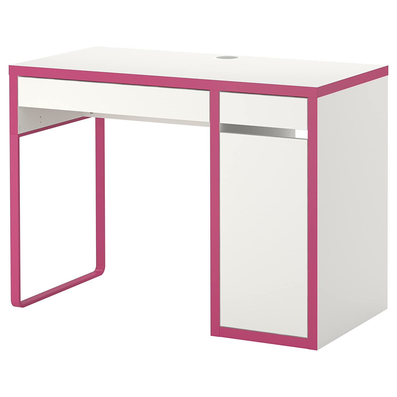 IKEA(イケア) MICKE デスク ホワイト ピンク   B00JEY9KX6