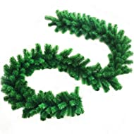 Outgeek 8.86ft Christmas Garland Artificial Pine Garland Hanging Ornament for Xmas Party