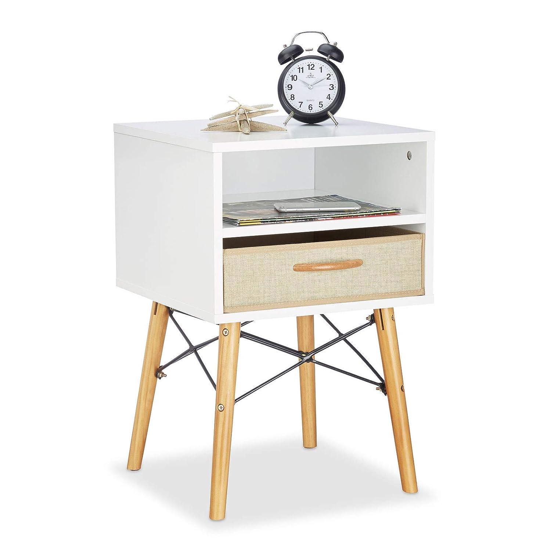 Table de Chevet en Bois Table F Pieds de Chevet Table de Chevet scandinave Style Indien tiroir Style FOL Style g/én/érique