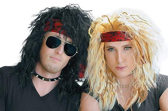 Amazon.com: 80s Heavy Metal Disfraces de Halloween Pelucas ...