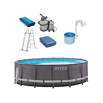 Amazon.com: Intex 16ft x 48in Ultra Frame Swimming Pool Set ...