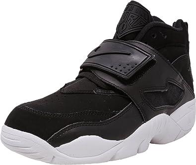fd3cc55d819c Nike Men s Air Diamond Turf Black Black-White High-Top Fashion Sneaker -