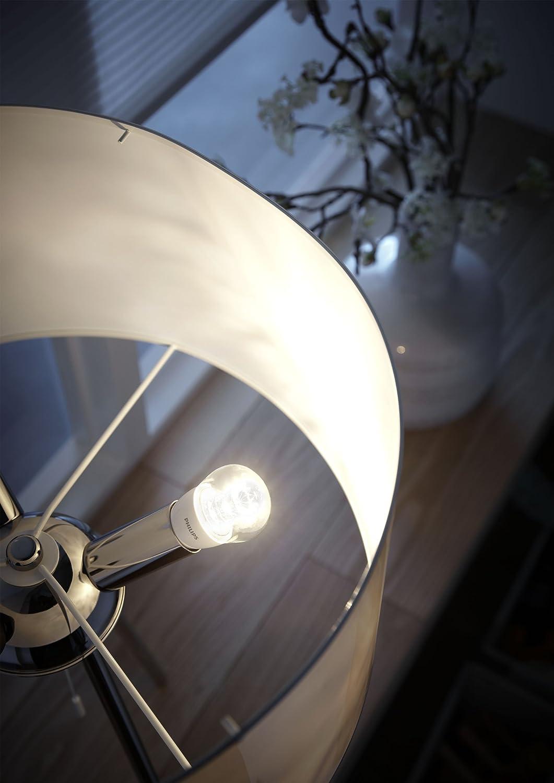 Philips Lustre Bombilla LED esférica transparente E14, 3 W, Translúcido y blanco: Amazon.es: Iluminación