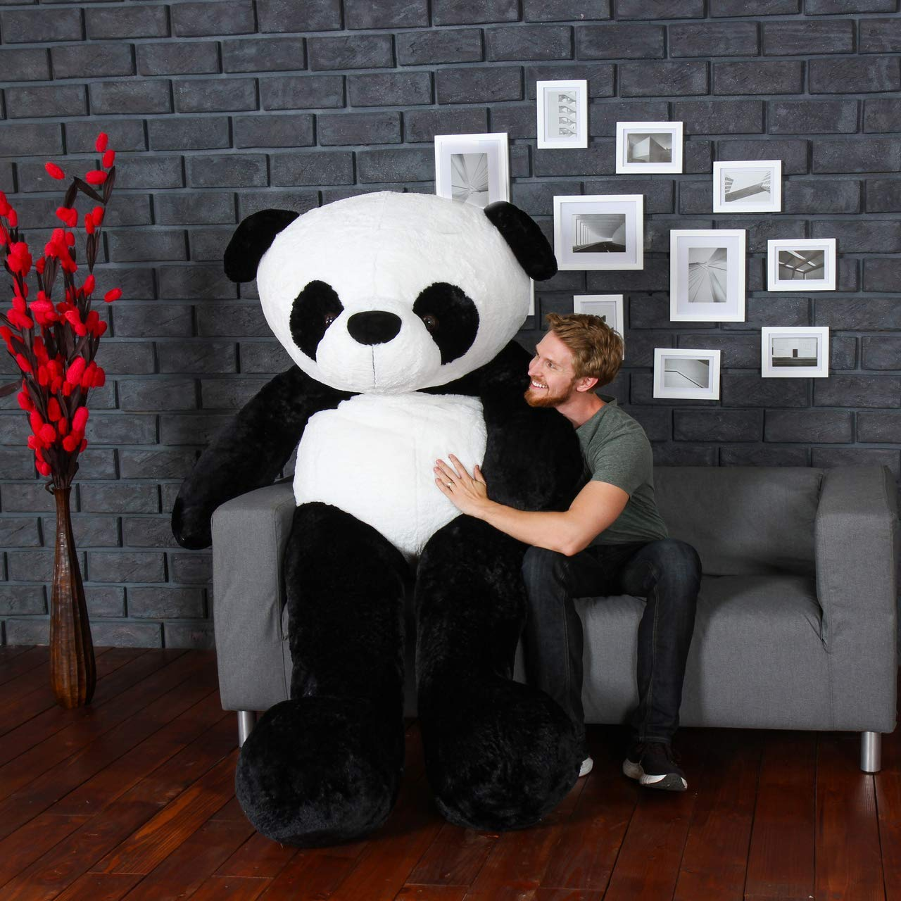 Anxiety Stuffed Animal, Buy Click4deal Giant Stuffed Spongy Huggable Cute Panda Teddy Bear High Quality 6 Feet Online At Low Prices In India Amazon In