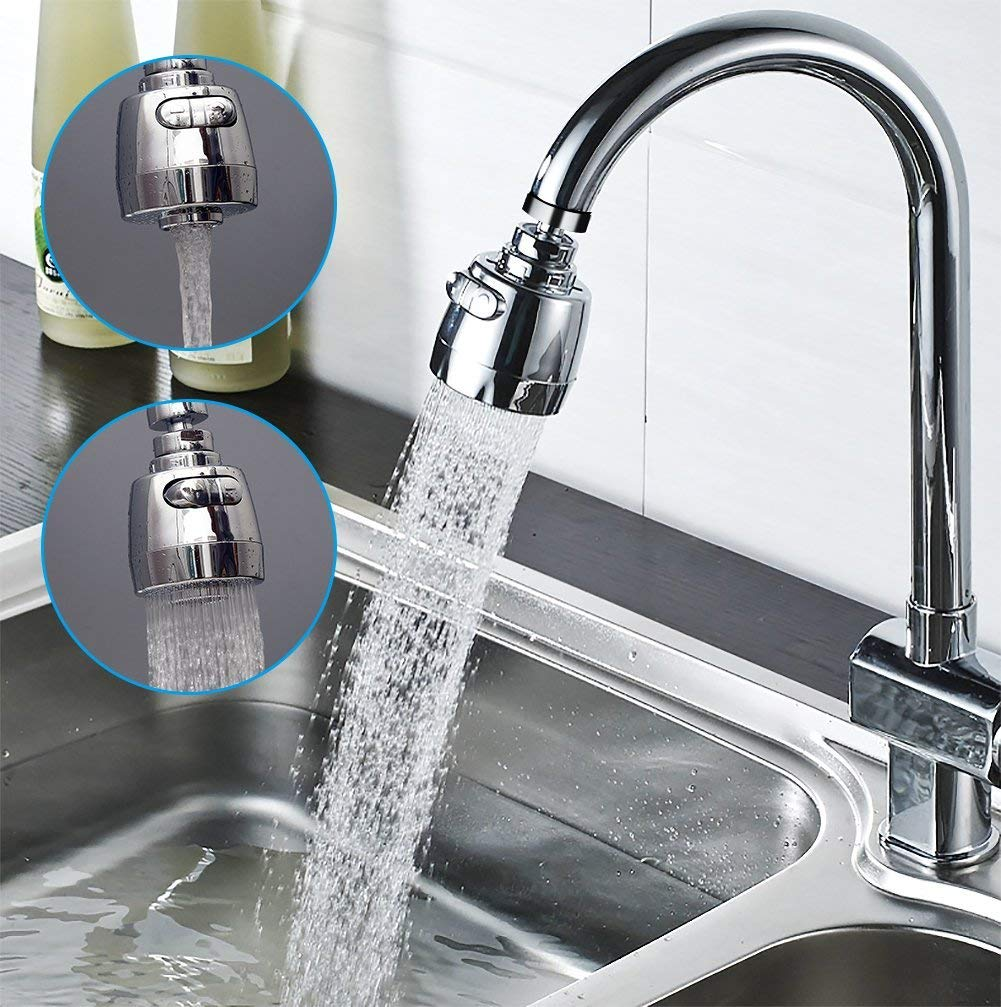 3New 360°Swivel Water Saving Tap Aerator Nozzle Filter Water Saving Tap Diffuser Kitchen Accessories (Short)