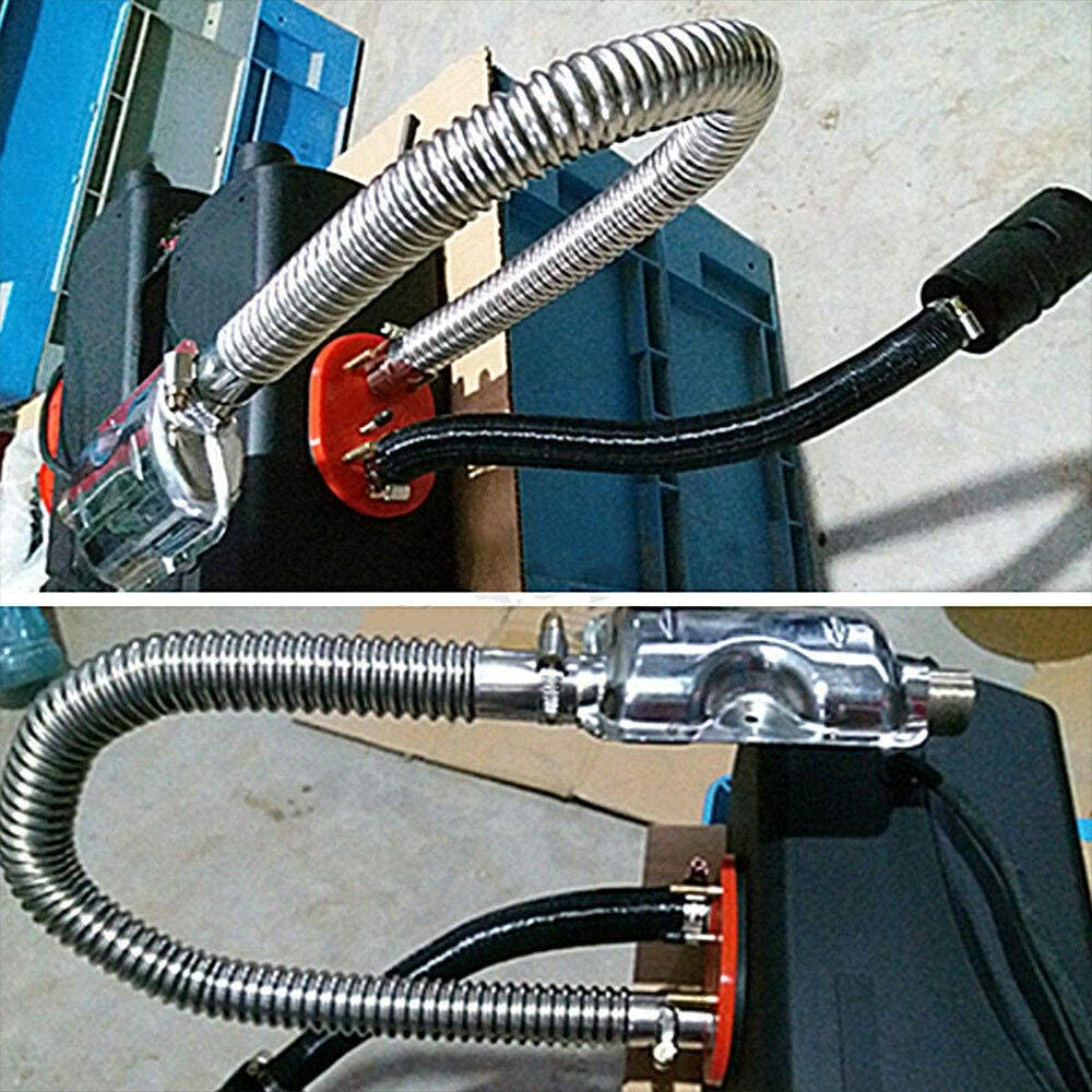Raybre Art Diesel Gas Vent Hose 120CM Parking Air Heater Tank Exhaust Pipe With Clamp
