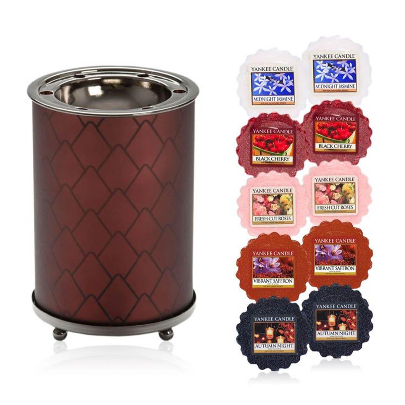 Officiel Yankee Candle moderne Pinecone Brûle-parfum Comprend 10Cire Ensemble cadeau My Planet
