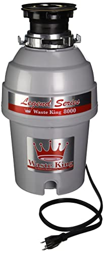 Waste King Legend Series 1 HP Continuous Feed Garbage Disposal with Power Cord - (L-8000)