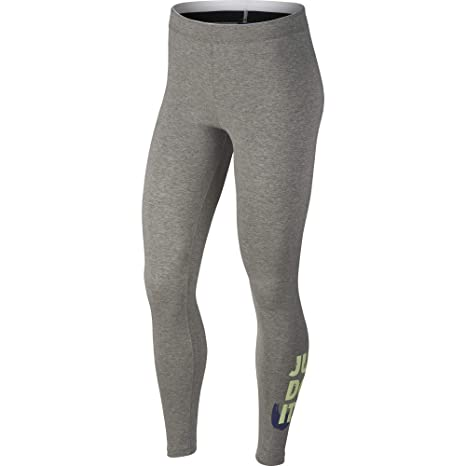 61aebc5e6dadc Nike Womens Club Just Do It Leggings Grey Heather/Binary Blue 890381-063  Size