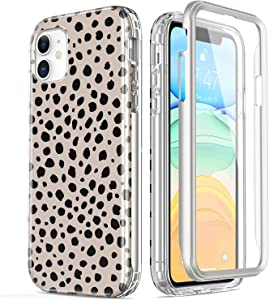 Esdot iPhone 11 Case with Built-in Screen Protector,Military Grade Rugged Cover with Fashionable Designs for Women Girls,Slim-fit Protective Phone Case for Apple iPhone 11 6.1