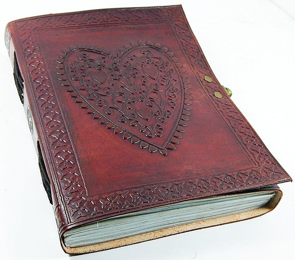 Purpledip agenda/diario/notebook in pelle decorativa per regalo aziendale o memorie personali: heart-to-heart (LJ03)