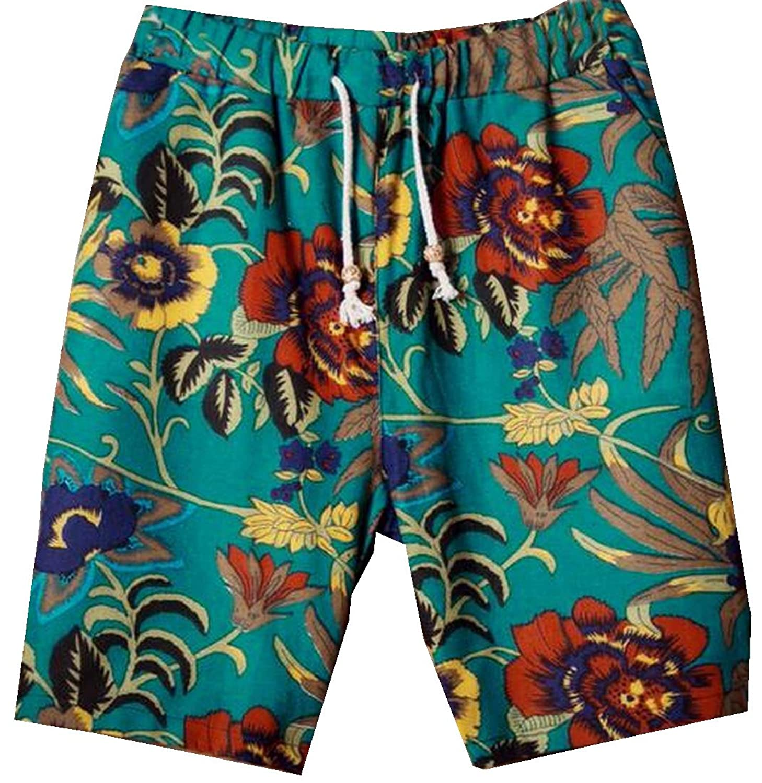 Abetteric Mens Geometry Beachwear flax Classic Swim Short Boardshort AS13 US XL